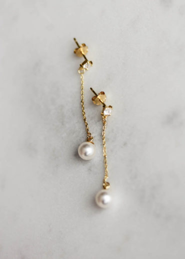 PABLO minimal pearl earrings 3