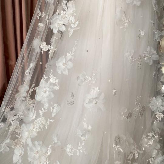 Bespoke for Monica_411cm fully embellished wedding veil 12