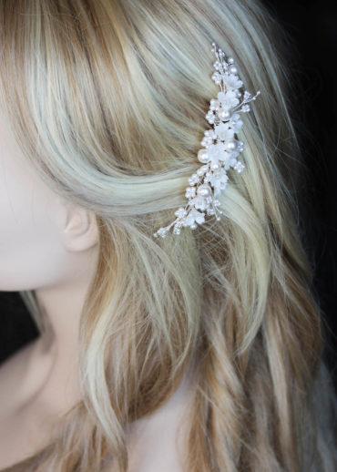 CHLOE floral hair comb 1