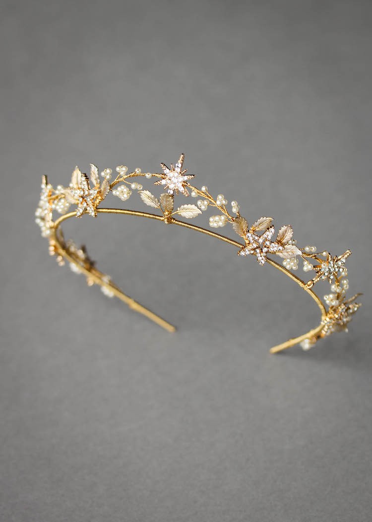 11 Celestial inspired wedding accessories_Starry Night crown 1