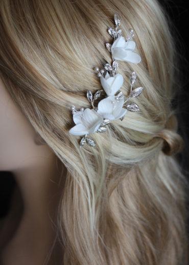 ABIGAIL floral side comb 7