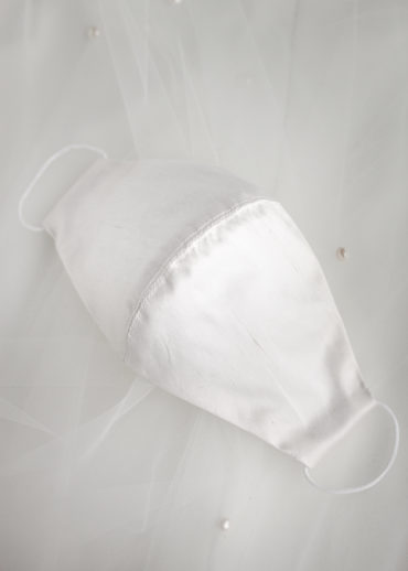 GRACE silk wedding face mask 1