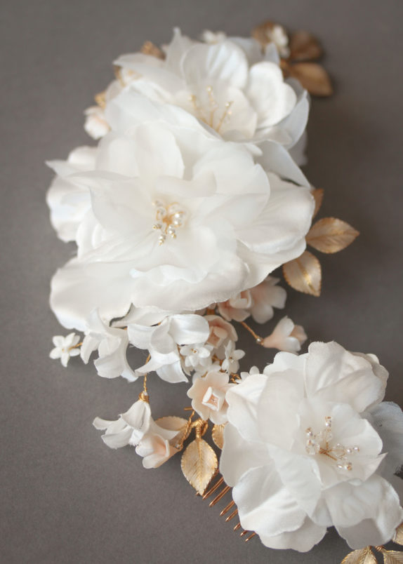 REMBRANT | Floral bridal hair piece 6