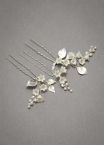 LILY of the VALLEY bridal hair pins 2